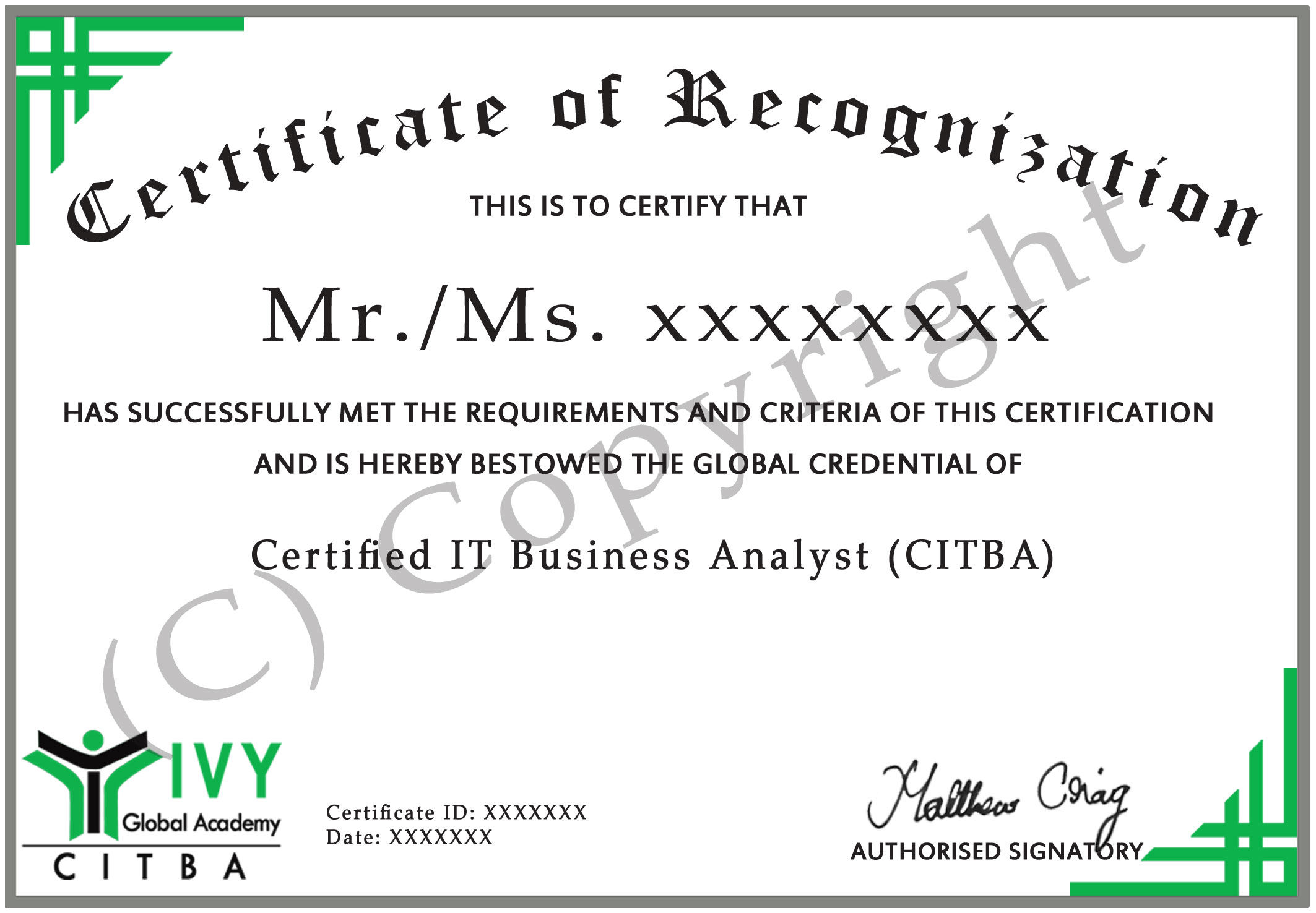 Certified It Business Analyst Citba