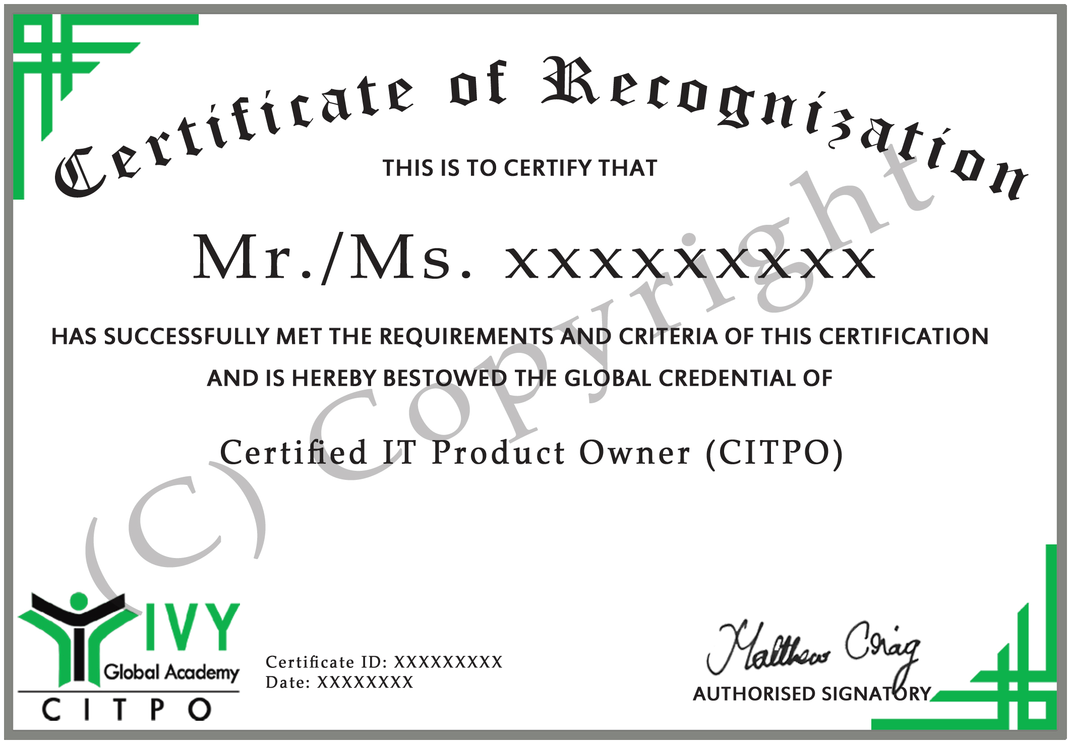 Certified It Product Owner Citpo