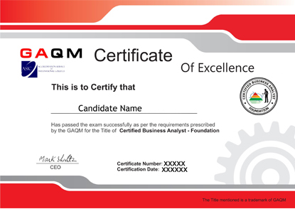 GAQM Business Analyst Professional Certifications | GAQM BA ...